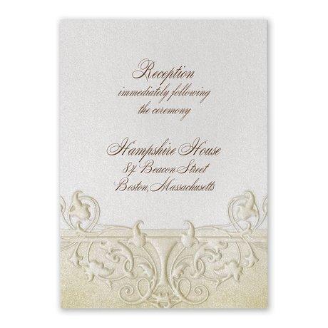 Regal Finish Reception Card
