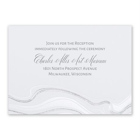Geode and Foil Reception Card