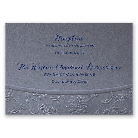 Floral Gateway Reception Card