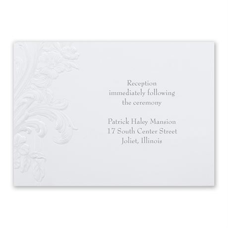 Sweeping Flourishes Reception Card