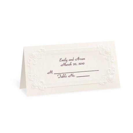 Ecru Victorian Place Cards