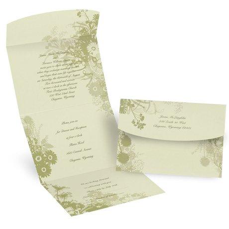 Wildflowers Seal N Send Invitation