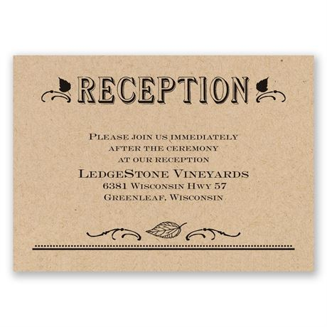 Big Celebration Reception Card