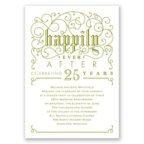 Filigree Whimsy Anniversary Invitation