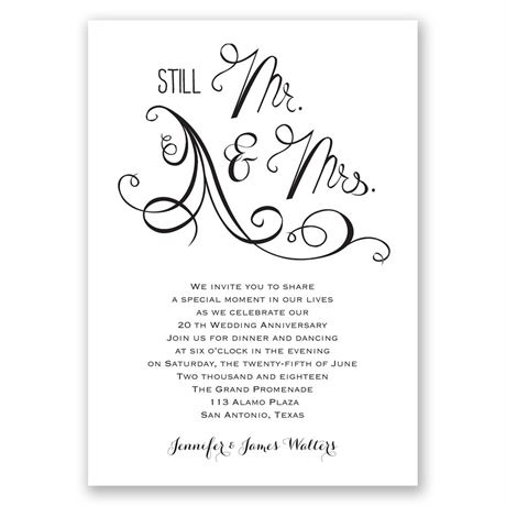 Still Mr. and Mrs. - Anniversary Invitation