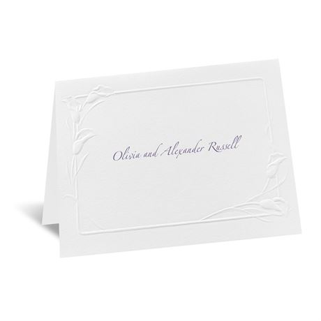 White Heirloom Note Card and Envelope