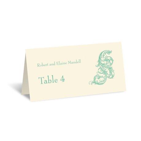 Posh Flourish - Ecru - Escort Card