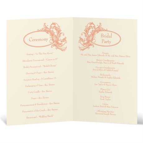 Posh Flourish - Ecru - Program