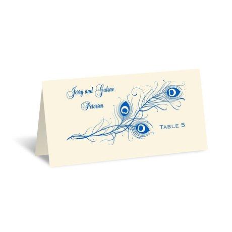 Framed in Feathers - Ecru - Escort Card