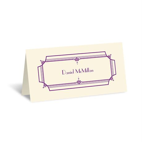 Art Deco Arch - Ecru - Place Card