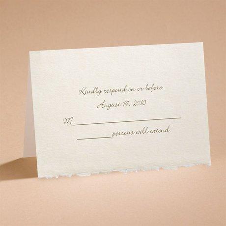 Ecru Deckle Edge Respond Card and Envelope