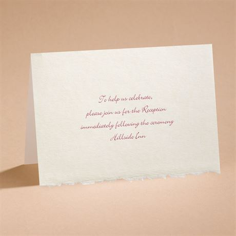 Ecru Deckle Edge Reception Card