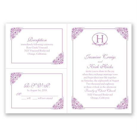 Elegant Finish - 3 for 1 Invitation