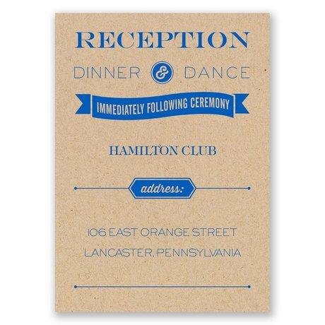 Love Preserved Kraft Reception Card