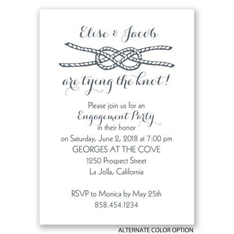 Tying the Knot - Mini Engagement Party Invitation