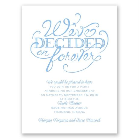 Big Decision Petite Engagement Party Invitation