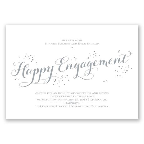 Feeling Bubbly Engagement Party Invitation