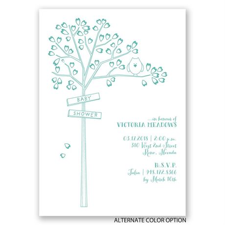 Growing Love - Baby Shower Invitation
