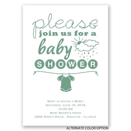 Please Join Us - Baby Shower Invitation