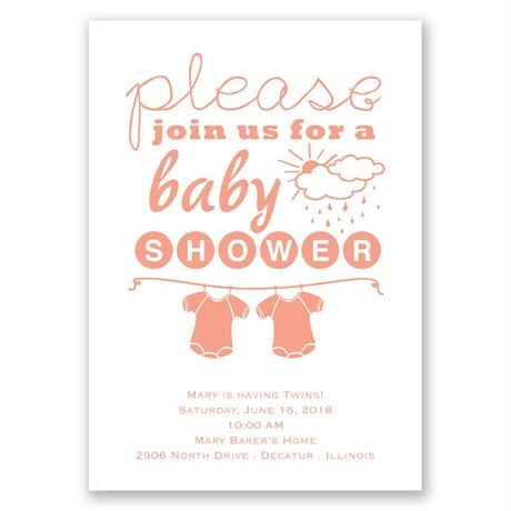Please Join Us Twins Baby Shower Invitation