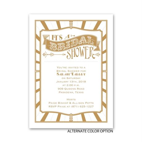Circus Style - Petite Bridal Shower Invitation