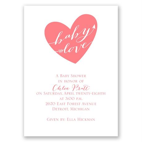 Baby Love Mini Baby Shower Invitation