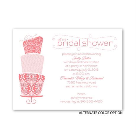 Pretty Cake - Petite Bridal Shower Invitation