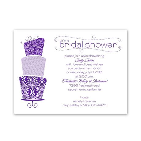 Pretty Cake Petite Bridal Shower Invitation