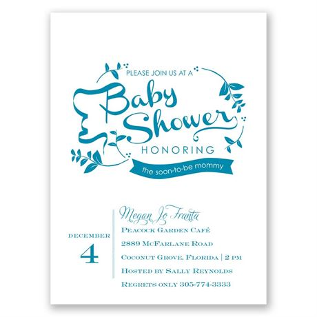 Naturally Pretty Petite Baby Shower Invitation