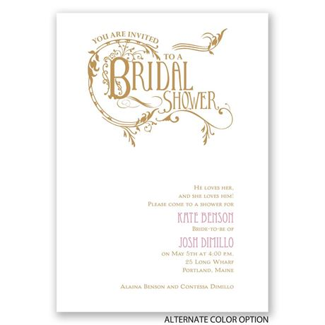 Fabulous Flourish - Bridal Shower Invitation