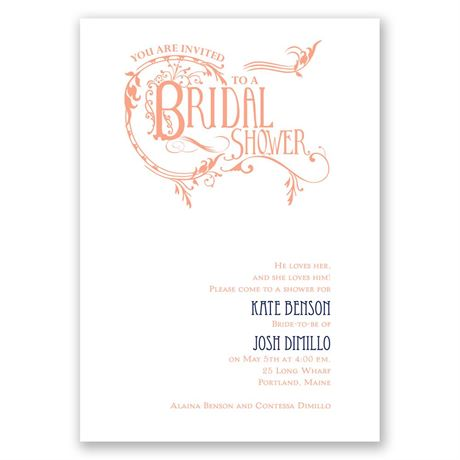 Fabulous Flourish Bridal Shower Invitation