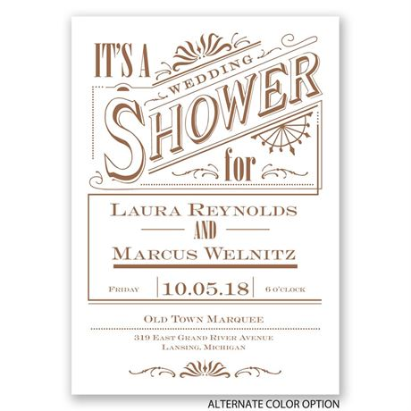 Vintage Charm - Wedding Shower Invitation
