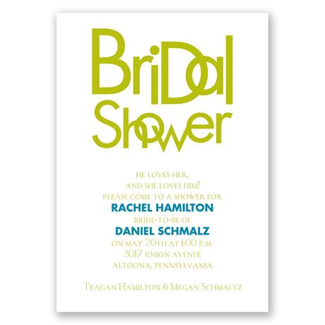 Modern Style Bridal Shower Invitation