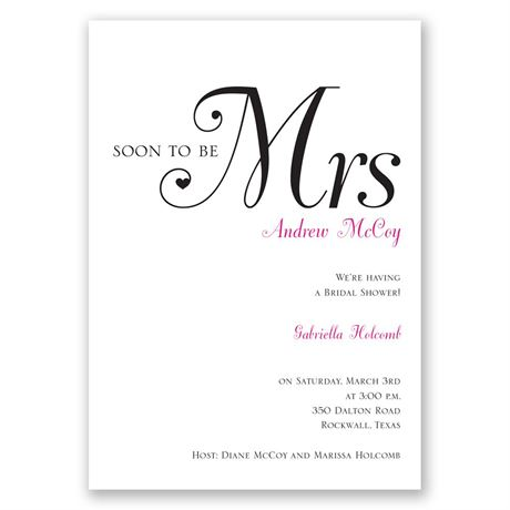 High Class - Bridal Shower Invitation
