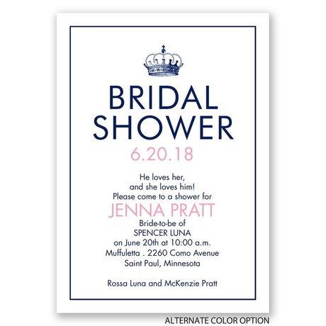 Crowned - Bridal Shower Invitation