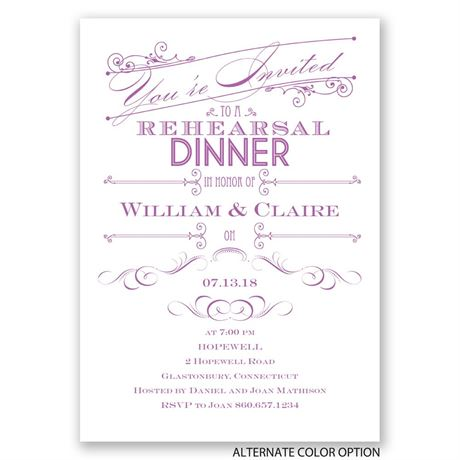 Elegant Intro - Rehearsal Dinner Invitation