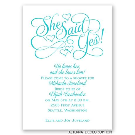 Floating Hearts - Mini Bridal Shower Invitation