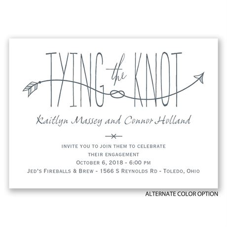 Love Knot - Mini Engagement Party Invitation