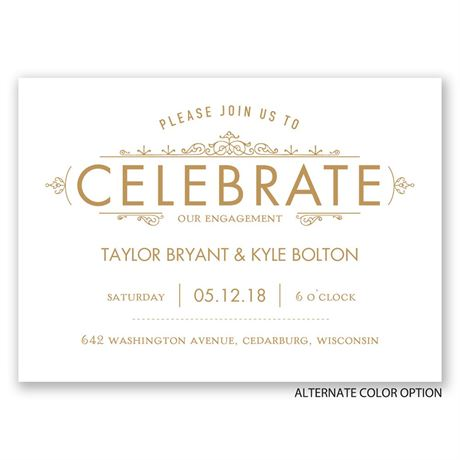 Vintage Accents - Mini Engagement Party Invitation