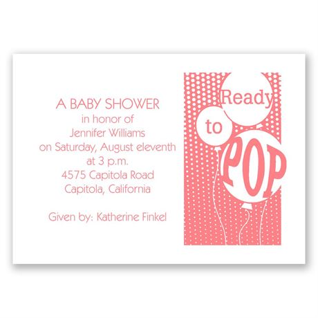 Ready to Pop Mini Baby Shower Invitation