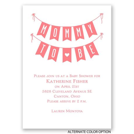 Banner Day - Mini Baby Shower Invitation