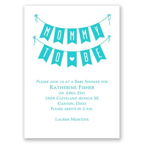 Banner Day Mini Baby Shower Invitation