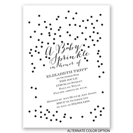 Lightly Sprinkled - Baby Shower Invitation
