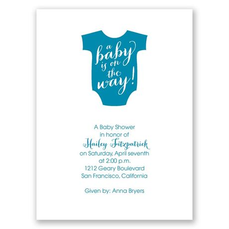 On the Way Petite Baby Shower Invitation