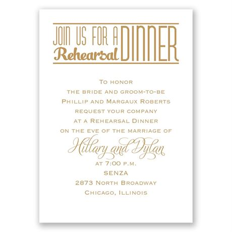 Simply Stylish Mini Rehearsal Dinner Invitation