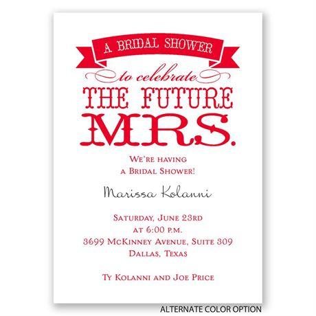 The Future Mrs. - Mini Bridal Shower Invitation
