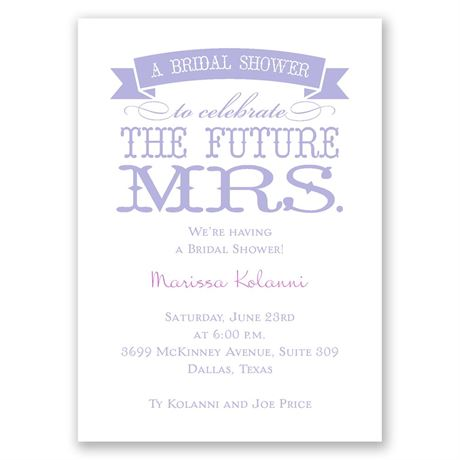 The Future Mrs. Mini Bridal Shower Invitation