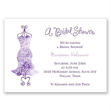 Fancy Free Mini Bridal Shower Invitation