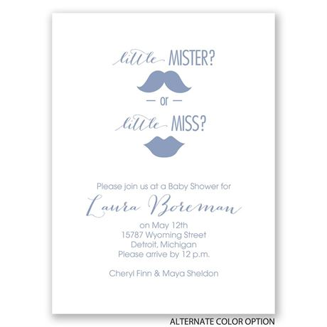 Mister or Miss - Petite Baby Shower Invitation