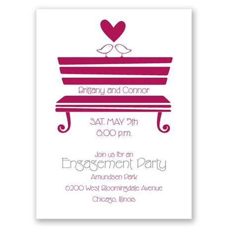 "Love""s Perch Petite Engagement Party Invitation"